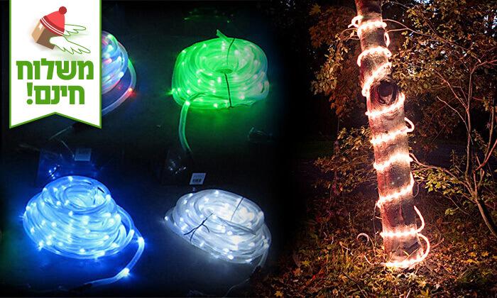 2 שרשרת נורות LED סולארית - משלוח חינם