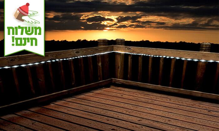 4 שרשרת נורות LED סולארית - משלוח חינם
