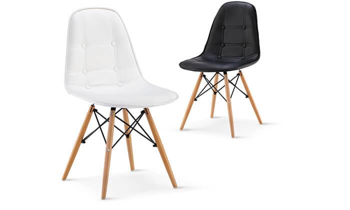 2 כיסא מרופד לפינת אוכל