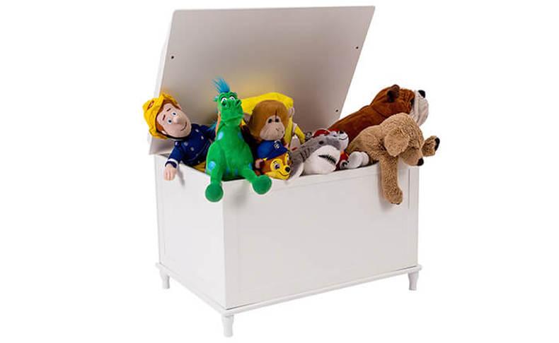 ארגז עץ לאחסון צעצועים