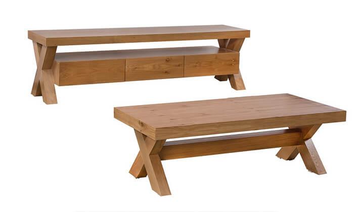 4 מערכת מזנון ושולחן לסלון LEONARDO