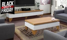 סט מזנון ושולחן לסלון