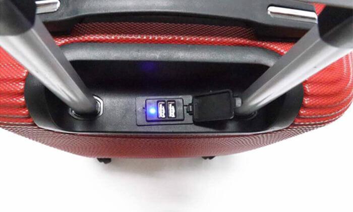 6  סט 3 מזוודות טרולי קשיחות וקלות משקל עם מטען USB