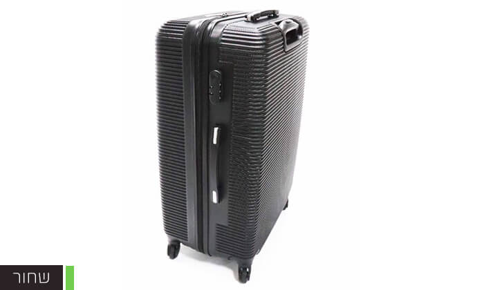 5  סט 3 מזוודות טרולי קשיחות וקלות משקל עם מטען USB