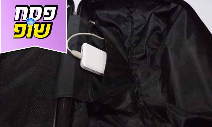 7  סט 3 מזוודות טרולי קשיחות וקלות משקל עם מטען USB