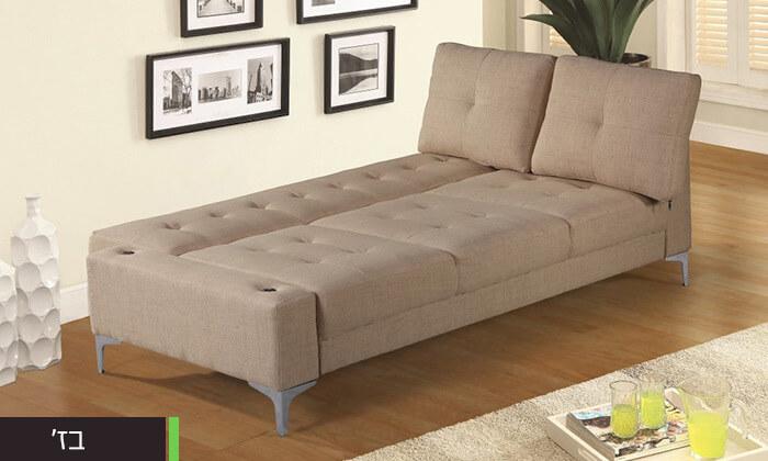 4  ספה תלת מושבית נפתחת למיטה LEONARDO