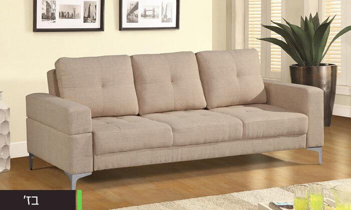 5  ספה תלת מושבית נפתחת למיטה LEONARDO