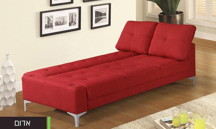8  ספה תלת מושבית נפתחת למיטה LEONARDO