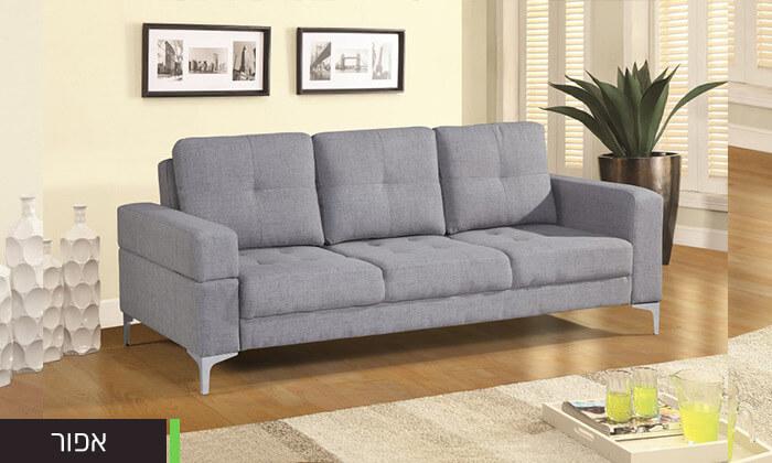 6  ספה תלת מושבית נפתחת למיטה LEONARDO