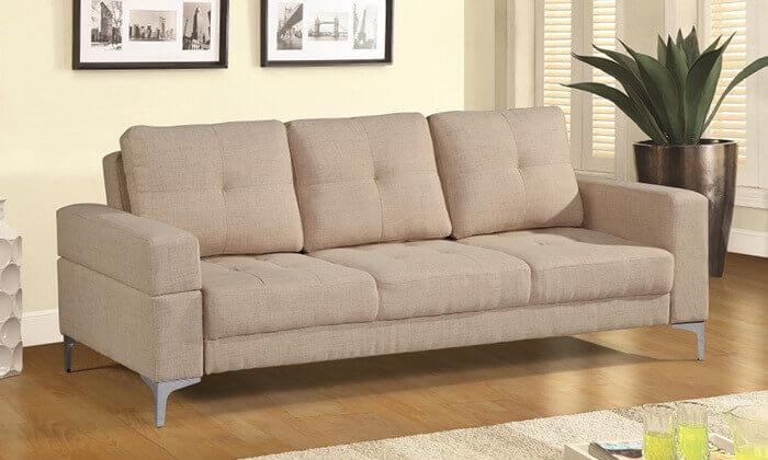 2  ספה תלת מושבית נפתחת למיטה LEONARDO
