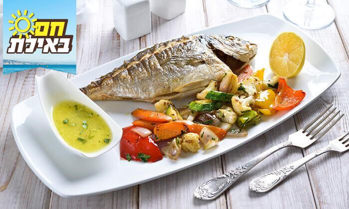 2 ארוחה זוגית בלה סרדין, מסעדת דגים במרינה אילת