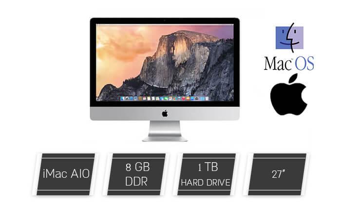 "2 מחשב נייח ""Apple iMac AIO 27"