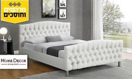 מיטה מעוצבת בריפוד דמוי עור