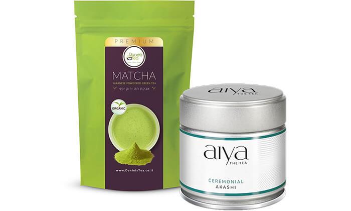 2 מאצ'ה - אבקת תה ירוק יפני