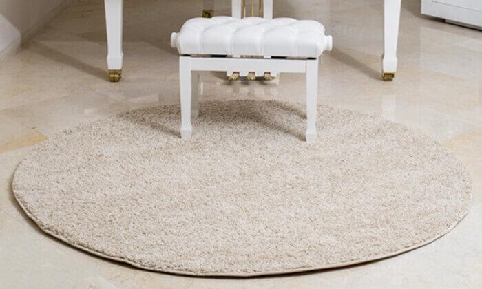 2 שטיח שאגי עגול - משלוח חינם!