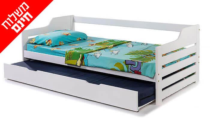 2 מיטת ילדים מעץ מלא BRADEX - משלוח חינם!